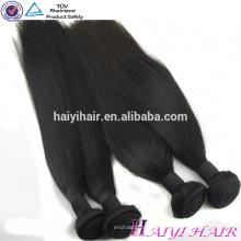 Бразильские прямые волосы ткет и закрытие пачки 3 пачки