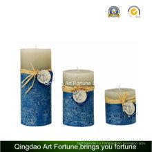 Приморский дизайн Handmade Pillar Candle Supplier