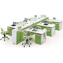 Suprimento de mobiliário de escritório, mesa de trabalho, móveis de mesa, pérola branca + papagaio, Escritório design de móveis de mesa (JO-5006-6)