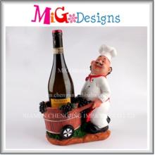 Hot Sales OEM Chef Shaped Polyresin Wine Bottle Holder
