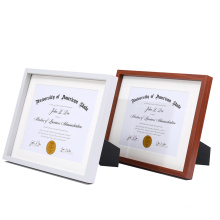 Wholesale Custom High Quality 11x14 Black Document Wooden Floating Glass Display Picture Photo Frame