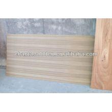 Folheado de teca madeira compensada fantasia com núcleo de álamo