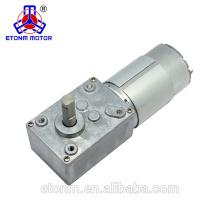 motor vendedor caliente del engranaje de gusano de la robusteza 12v 2.5 rpm con la caja de engranajes