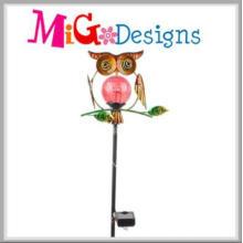 Adorable Owl Garden Decoration Solar Stake Light for Street