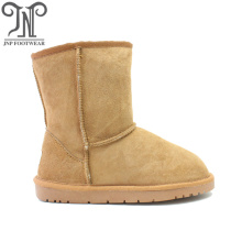 Latest fashion womens sheepskin boots shearling lined boots