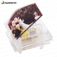 Sunmeta fashionable blank piano shape sublimation crystal photo frame