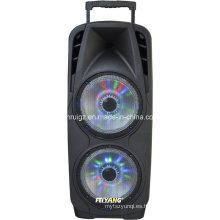 Super Big Power Woofer Double 10inch plástico batería batería Bluetooth Speaker con luz F73D