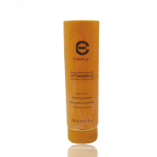 200ml hot stamping cosmetic cleanser tube with flip top cap
