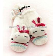 Custom Kids Warm Acrylic Knitted WInter Gloves ZMR622