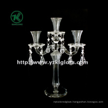 Glass Candle Holders for Party Decoration with Three Posts (10*23*32)