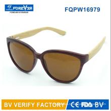 Fqpw16979 хорошее качество бамбука руки солнцезащитные очки классический стиль