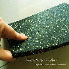 China fabricado mais barato piso de borracha do ginásio