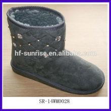 SR-14WM0028 2014Cotton Fabric Nice Woman Winter Snow Boots warm&women winter snow boots cheap snow boots