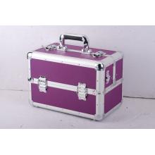 Caja de herramientas de almacenamiento de aluminio con cierre