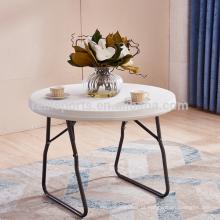 Mesa de dobramento exterior dos tabela grandes plásticos brancos das mesas de jantar e da tabela de lotes da cadeira
