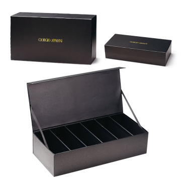 Custom Black Display Packaging Paper Box med lock