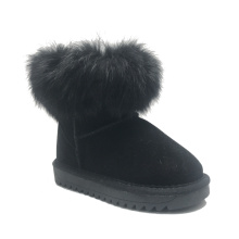 Girls Winter Warm Fur Lined snow leather boots