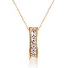 Clásico solitario permanente claro CZ colgante 925 joyería de plata