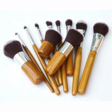 Set de pinceaux de maquillage en bambou Vegan