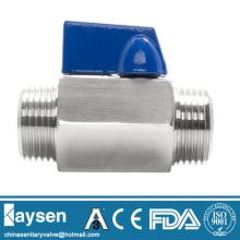 Stainless Steel thread mini ball valves Male*Male