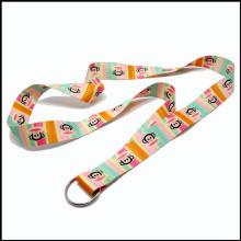 Personalizar colorante sublimada / calentado cordón de encargo de la transferencia con diseño del OEM