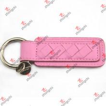 Rosa PU couro chaveiro para meninas chaves anéis atacado (lkr15120406)