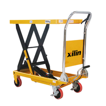 Xilin small lift table 300kg 660lbs hydraulic lift table trolley for sale