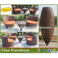 China Furniture Outdoor Rattan Coffee Table Chair Set