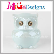 High Quality Children Gifts Decor Ceramic Owl Money Bank