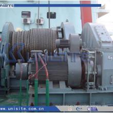 Molinete hidráulico combinado hidráulico del ancla del barco (USC-11-016)
