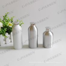 Weiße Aluminium-Pulverflasche mit Aluminium-Siebdeckel