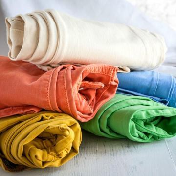 Регулярные хлопок полиэстер стрейч цвета деним для джинсов девушки