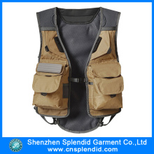 New Design Mens High Quality Mesh Fishing Vest with Logo