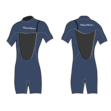 Seaskin Zipperless Mens Wetsuit Shorty untuk Wave Surfing