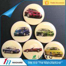 round promotional decoration resin epoxy fridge magnet