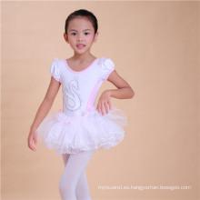 Vestido de tutú con estampado de cisne, vestido de niña Tutu Chffion, ropa de danza escénica para niños