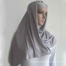 Solid plain islamic muslim jersey hijab long made of 100% viscose