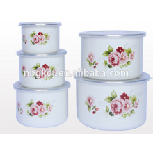 melamine tableware enamel ice bowl sets with PE lid