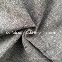Lino / hilo de algodón Teñido de tela (QF13-0751)