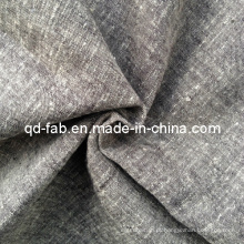 Linho / fio de algodão tecido tingido (QF13-0751)