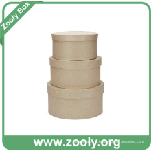 Natural Brown Kraft Cardboard Paper Round Nesting Hat Box