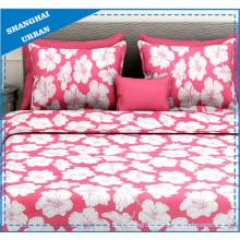 Red Floral Design Polyester Duvet Cover Bedding Set