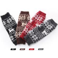 Mulheres moda acrílico malha inverno luvas aquecedor de braço (yky5451)