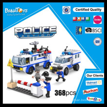 Special Offer!Christmas toys 2015 police car building block police vehicle electronic toy brick