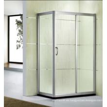 Precio al por mayor de la fábrica Vidrio templado Sitio de ducha de cristal simple (D13)