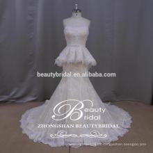 El lujo manual puro appliqued el vestido de boda semi-amor del vestido nupcial de la sirena