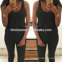 Sexy casual sleeveless vest tight body pants women sexy jumpsuit for wholesale