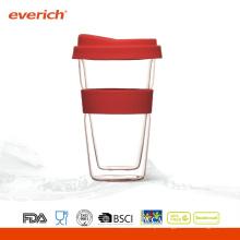 Copos de água de vidro para café à prova de calor promocionais para venda