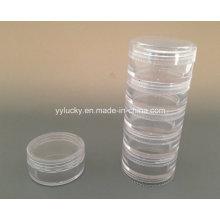 Небольшие пластиковые Jar PS Jar стекируемых крышки