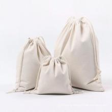 Wholesale custom promotional cotton drawstring bag reusable grocery canvas drawstring bags